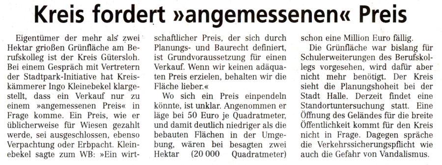20140515 - WB - Kreis fordert 'angemessenen' Preis - 900x