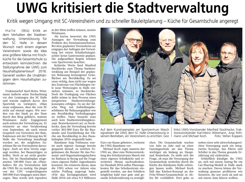 20151204 - WB - UWG kritisiert die Stadtverwaltung - 1500x