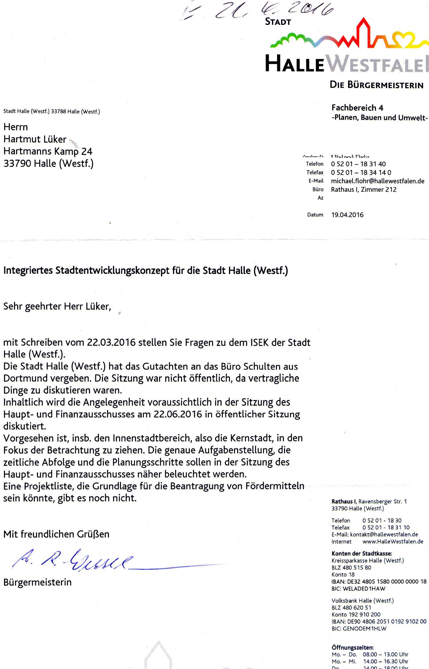 20160419 - Antwort auf das Schreiben an die Bürgermeisterin zu ISEK - 1500x